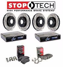 Lancer EVO AWD Front Rear StopTech Drilled Brake Rotors PQ Metallic Pads Set Kit