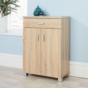 Sonoma Oak Shoe Cabinet Storage 2 Door 1 Drawer Hallway Cupboard Shoe Tidy