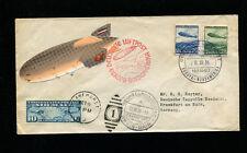 Zeppelin Sieger 441C 1936 10th NorthAmericaFlight ReturnTripBordpost w/USAair