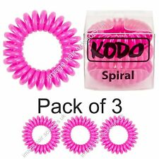 Bobble Invisible by Kodo Hair Band 3 Pack No Pain Damage or Tangles. PINK