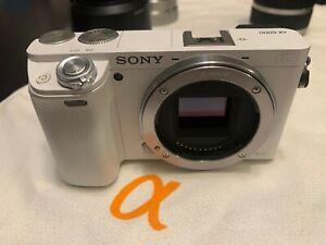 Sony Alpha α6000 24.3MP Digital SLR Camera - White