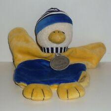 Doudou Canard Doudou et Compagnie - Jaune bleu
