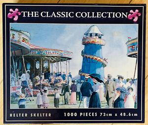 Helter Skelter 1000 Piece Jigsaw Puzzle Vintage Fairground Scene Merry Go Round