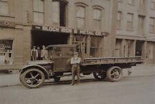 "1920s Bloch Iron & Metal Truck Mounted Photo - ALUMINUM REPRINT 8"" X 12"" - RARE"
