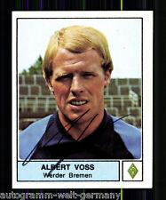 Albert Voss Werder Bremen Panini Sammelbild 1979 Original Sign. +A 59851