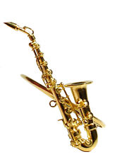 "Saxophone replica brass gold plated 2.5"" handmade collectible  Napkin Ring"