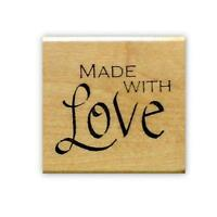Made With Love Mounted rubber stamp, handmade label or tag stamp #15