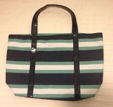 Estee Lauder Navy Blue / Green / White Stripe Large Tote Bag. Brand New