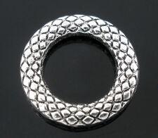 50 Antiksilber Punkt Geschlossen Öse Binderinge Ringe