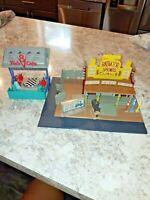 RARE Disney Cars Radiator Springs Lizzies Curio Shop Playset + Flo's V8 Cafe