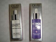 2 X Olay Regenerist Retinol 24 1x night serum 1x collagen peptide 40ml FREE POST