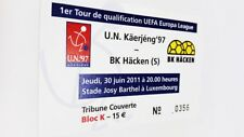 used ticket UN KAERJENG 79 - BK HACKEN Gothenburg 30.06.2011