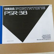 all organ YAMAHA Portatone PSR-38 Owner's Manual