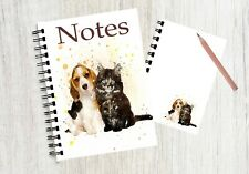 Notebook / Notepad with an image of a cute puppy and kitten! By Starprint G & D