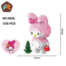 HC 9026 Cartoon My Melody Rabbit Figure Diamond Mini DIY Building Nano Block Toy