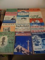 20 x JOB LOT OLD VINTAGE SONG PIANO SHEET MUSIC 1940s 1950s 1960s collection b