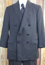 Ralph Lauren Black Label Men's Wool Cashmere Blend Gray 2 Piece Suit 38 Short