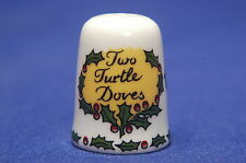 Sutherland Two Turtle Doves fro 12 Days of Christmas China Thimble B/26
