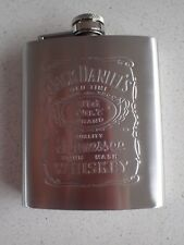 "JACK DANIELS ""Old No.7"" Whiskey Silver Stainless Steel 7oz Drink Hip Flask *NEW*"