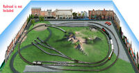 N Scale 2'x3' layout background-Printed on Canvas