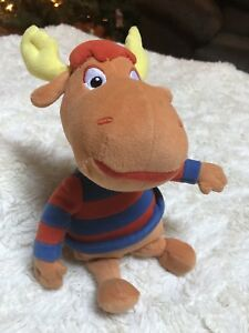 "Tyrone Backyardigans Plush Orange Moose Red Blue Stripe 8"" TY Beanie Babies 2010"