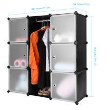 LANGRIA DIY Kleiderschrank Verriegelung Modular Steckregal Regalsystem Garderobe