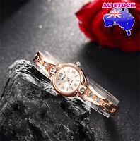 Ladies Watch 18K Gold  Dial With  Swarovski Diamond  Alloy Strap