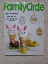 Family Circle Magazine April 2014 Easter & Passover Menus, Online Yard Sales