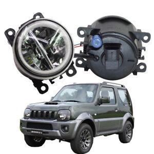 LED Fog Light + Angel Eye Rings Daytime Running Lights DRL Fit For Suzuki Jimny