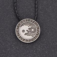 Men's Fashion Viking Norse Pendant Necklace Wolf Jewelry Gothic Valknut Amulet