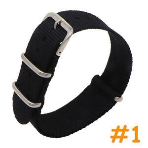 18 20 22mm Watch Band Wristband Army Sport Nylon Fabric Strap Bracelet Belt Men