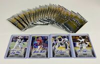 2020 Leaf Draft Football Auto Lot X4 and 20 Sealed Packs PATRICK QUEEN AUTO!