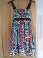 Women's Designer UTTAM LONDON Aztec pattern lined shift dress size M (10).