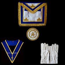 maçonnique insignes- ARTISANAT Provincial ROBE TABLIER & COL + BADGE + gants (