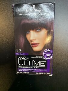 SEALED Schwarzkopf Color Ultime #1.3 BLACK CHERRY Permanent Hair Color