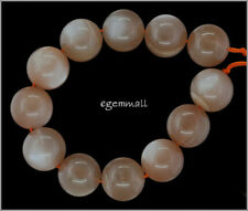 337ct Large Peach Moonstone Round Beads ap. 16mm Grade A #74167