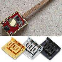 3-string Guitar Fixed Hardtail Bridge for Cigar Box Guitar Accessories Parts