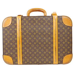 LOUIS VUITTON STRATOS 60 TRUNK HAND BAG HARD CASE 854 MONOGRAM M23236 81867