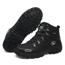 Mens Camping Walking Hiking Trail  Ankle Boots PU Leather Sports Athletic Shoes