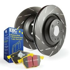 EBC USR Slotted Rotors / Yellowstuff Front Brake Pads for 12-18 Q5 w/ Brembo