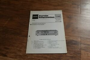 2 GRUNDIG Amplifier V2000 GB Vintage Retro HiFi SERVICE INFORMATION