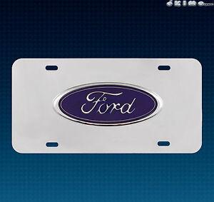 OFFICIAL LICENSED FORD 3D EMBLEM LOGO LICENSE PLATE F150 F250 F350 F450 MUSTANG