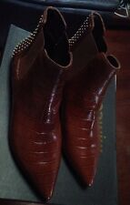 Mimco Brand New $299 Leather Boots Wedges Shoes Sandals 39 Or 8
