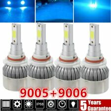 Combo 9005 9006 Ice Blue 8000K  LED Headlight Kit Bulbs High Low Beam US W02
