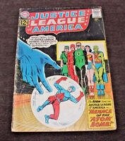 JUSTICE LEAGUE OF AMERICA #14 1962 Silver Age 1 Book Lot Low Grade Atom Bomb!