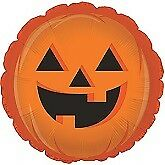 """Halloween Foil Balloons Can Be Personalised Party Ware Decoration Ghost Vampire 18"""" Happy Cute Pumpkin Face Balloon"""