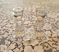 "Mikasa Crystal Candlesticks Candle holder Pair - 4.75"" - mint condition"