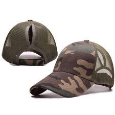 Fashion Women Ponytail Baseball Cap Camouflage Messy Bun Snapback Hat Sun Caps