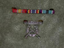 USMC Marine Ribbon Bar and Rifle Expert Badge