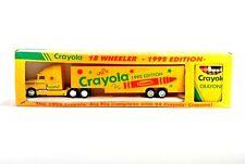 Crayola 18 Wheeler Big Rig Truck Toy 1992 w/ Crayons Diecast Cab Yellow Vintage